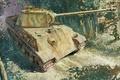 Картинка Panzerkampfwagen V, арт, MAN, Пантера, немецкий средний танк, Т-5, рисунок, танк, Panther, PzKpfw V, Т-V