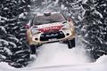 Картинка Машина, DS3, Ситроен, Летит, Передок, В Воздухе, Скорость, WRC, Rally, Citroen, Снег