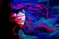 Картинка девушка, абстракция, эмоции, настроение, тьма, война, рисунок, портрет, живопись