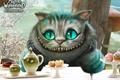 Картинка Алиса в стране чудес,  alice in wonderland, чеширский кот, глаза