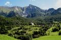 Картинка горы, долина, деревня, Slovenia, Dreznica village