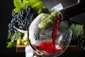 Картинка glass, grapes, виноград, бокал, wine, drink, вино