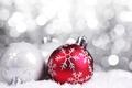 Картинка Шары, снег, новый год