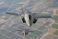 Картинка земля, полет, бомбардировщики, Lightning II, истребители, F-35B