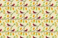 Картинка ветки, узор, птички