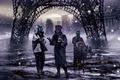 Картинка тачка, романтика апокалипсиса, снег, арт, romantically apocalyptic, город