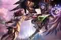 Картинка Aion, tower of eternity, крылья, сражение
