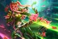 Картинка девушка, цветы, лучница, арт, Dota 2, хвостики, Windrunner, Windranger, Lyralei