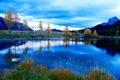 Картинка горы, озеро, Fall Blues