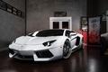 Картинка Lamborghini, Power, Front, White, LP700-4, Aventador, Wheels, ADV.1, Ligth
