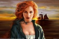 Картинка Рыжая, корабль, плащ, christine griffin