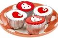 Картинка красный, сладости, праздник, день святого валентина, сердце, сердечки, белый, вкусно, пирожное, день всех влюбленных, чувства