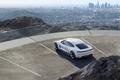 Картинка гора, 2015, Concept, вид сверху, парковка, Mission E, город, white, стоянка, Porsche