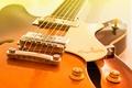 Картинка гитара, струны, фон