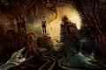 Картинка монстры, сюрреализм, руки, человек, существа, арт, пещера