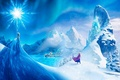 Картинка Queen, Walt Disney, снежинка, горы, принцесса, анимация, Королева, город, Анна, Эльза, ледяной замок, princess, Arendelle, ...
