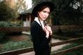 Картинка шляпка, Amish, девушка, косички, Георгий Чернядьев