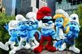Картинка the movie, Нью-Йорк, Смурфики, Smurfs, небоскрёбы, гномы, город