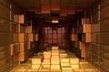 Картинка кубики, пространство, отражение