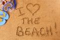 Картинка sand, beach, i love