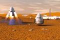 Картинка космический корабль, частный, Марс, транспортный, Dragon SpaceX