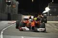 Картинка Вечер, Фото, Огни, Ночь, Гонка, Трасса, 2010, Formula-1, Fernando Alonso, Wallpapers, Болид, Фернандо Алонсо, Формула-1, ...