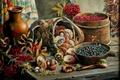 Картинка ягоды, Андрей Лях, натюрморт, грибы, арт