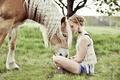 Картинка конь, настроение, девушка