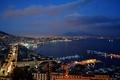 Картинка Naples, volcano, cityscape, city, lights, Napoli, sunset, night, evening, Italia, houses, sky, Italy, Vesuvio, Vesuvius, ...