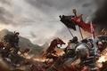 Картинка azrael, banner, warhammer 40K, chaos, space marines, daemonette, grey knights, imperium, daemon, shield, black legion, ...