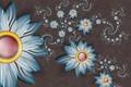 Картинка цветы, лепестки, объем, обои, спираль