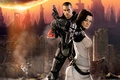 Картинка Mass effect 2, bioware, gamewallpapers, ea, cg, джон шепард, john shepard, miranda lawson