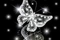Картинка abstract, neon, white, sparkle, неоновая, butterfly, бабочка, glow, jem, diamonds