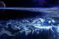 Картинка дед, арт, зима, мороз, фантастика, планета