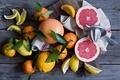 Картинка цитрусы, лимоны, грейпфруты, мандарины
