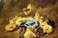 Картинка Arthur fitzwilliam tait, картина, утро, цыплята