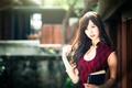 Картинка девушка, макияж, декольте, книга, восточная, chingcho Chang