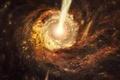 Картинка Квазар, Блазар, Лацертид, Астраномия, Сверхмассивная чёрныя дыра