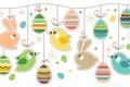 Картинка яйца, Пасха, кролики, птички