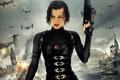 Картинка Milla Jovovich, Обитель зла Возмездие, Resident Evil Retribution, Милла Йовович, взрыв, зомби