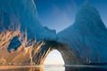 Картинка лучи, вода, Арктика, айсберг, солнце, льды