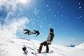Картинка Сноуборд, зима, снег, небо