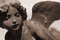 Картинка ангел, Скульптура, крылья, камень
