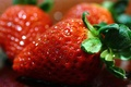 Картинка макро, ягоды, еда, клубника, боке, крупные, обои от lolita777