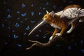 Картинка крылатая кошка, by Cat-Patrisiya, фэнтези, бабочки
