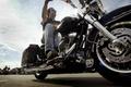 Картинка Harley davidson, мотоцикл, байкер
