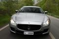 Картинка машина, фары, Maserati, капот, Quattroporte S, передок