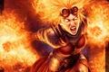 Картинка Девушка, огонь, волосы