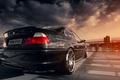 Картинка sun, E46, black, BMW, 328ci