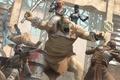 Картинка fan art, арена, маска, битва, super mutant, raiders, девушка, мутант, гигант, fallout, фантастика, противогаз, базука